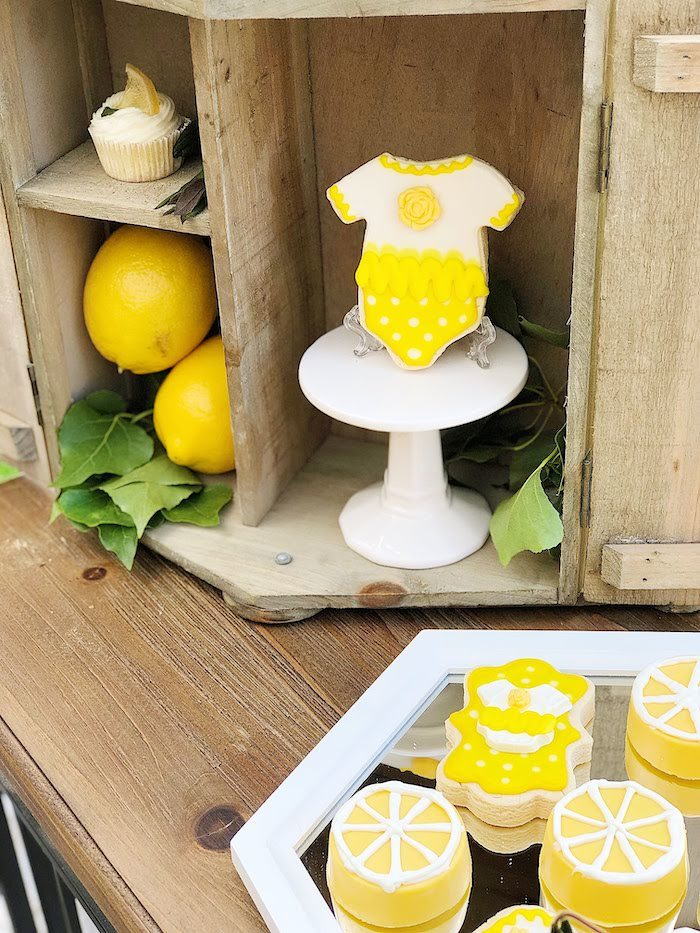 Lemon Themed Cookies from a Summer Lemon Baby Shower on Kara's Party Ideas | KarasPartyIdeas.com (24)