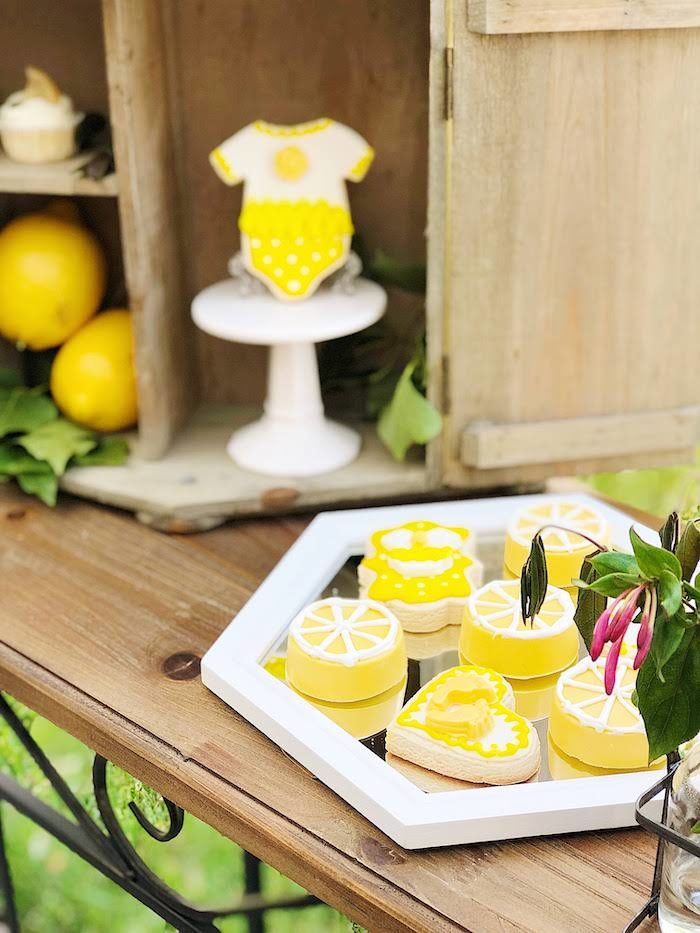 Cookie Plate from a Summer Lemon Baby Shower on Kara's Party Ideas | KarasPartyIdeas.com (22)