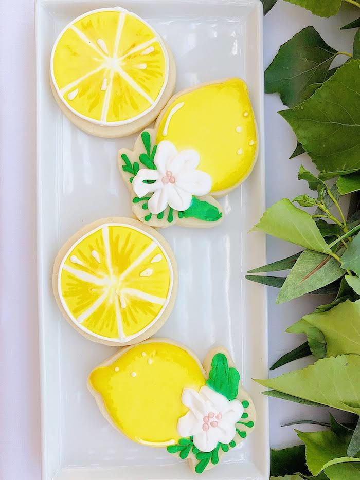 Lemon-inspired Cookies from a Summer Lemon Baby Shower on Kara's Party Ideas | KarasPartyIdeas.com (17)