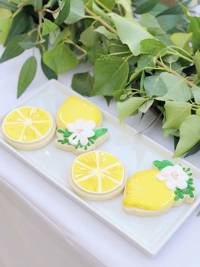 Lemon-inspired Cookies from a Summer Lemon Baby Shower on Kara's Party Ideas | KarasPartyIdeas.com (16)
