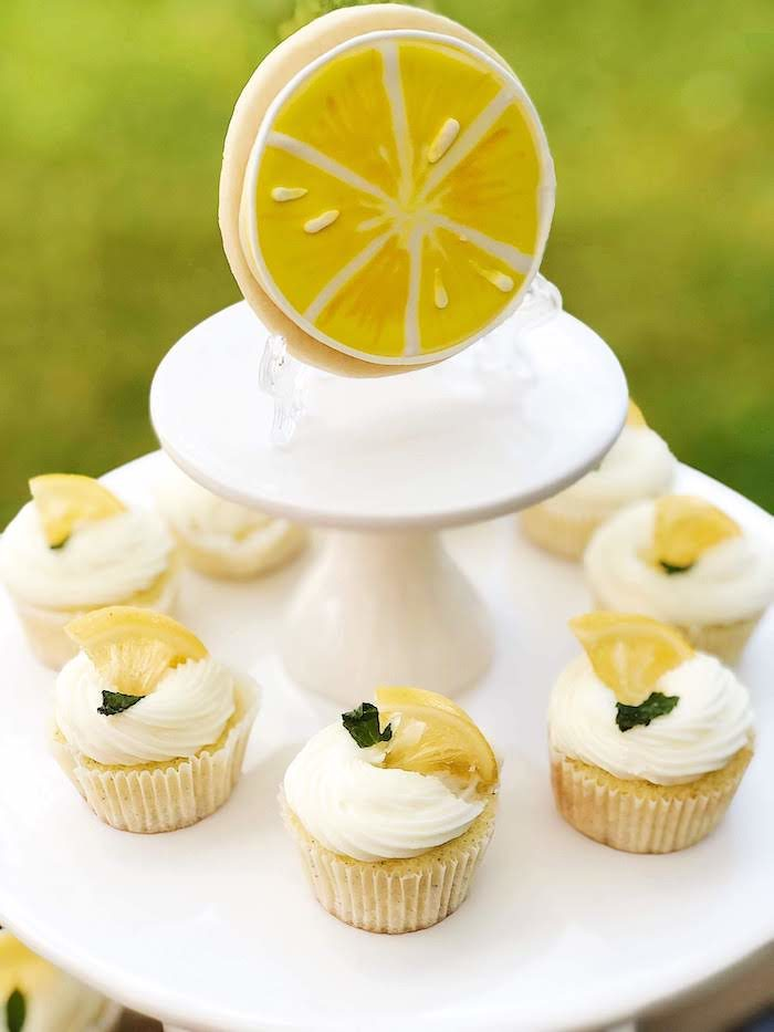 Lemon-inspired Cupcakes from a Summer Lemon Baby Shower on Kara's Party Ideas | KarasPartyIdeas.com (15)