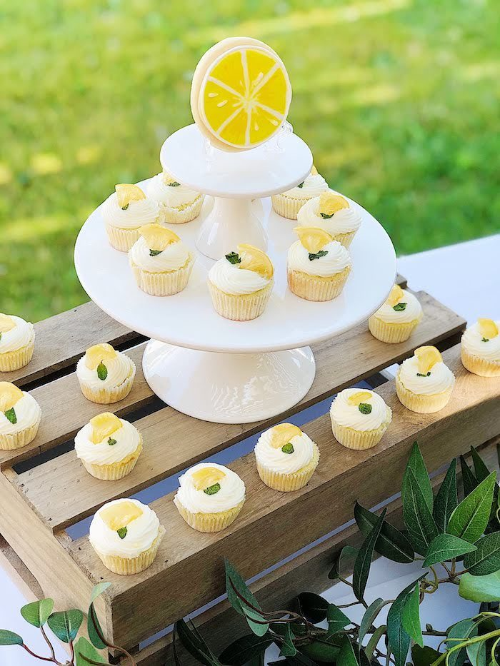 Lemon-inspired Cupcakes from a Summer Lemon Baby Shower on Kara's Party Ideas | KarasPartyIdeas.com (14)