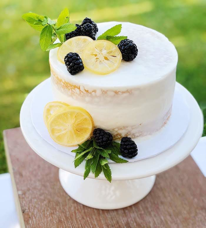 Lemon-inspired Cake from a Summer Lemon Baby Shower on Kara's Party Ideas | KarasPartyIdeas.com (9)