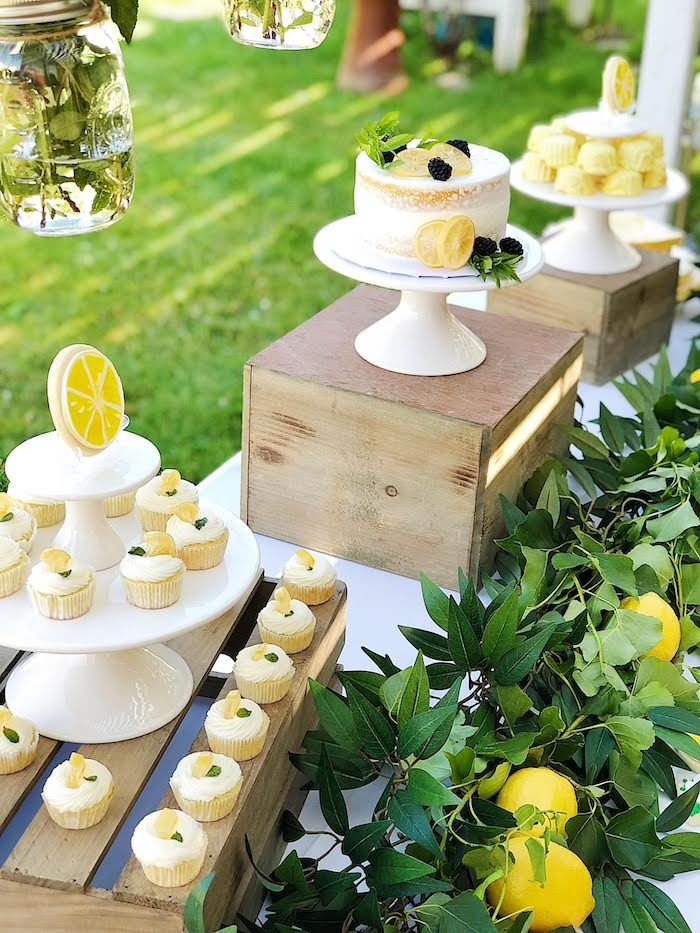 Sweet Table from a Summer Lemon Baby Shower on Kara's Party Ideas | KarasPartyIdeas.com (8)
