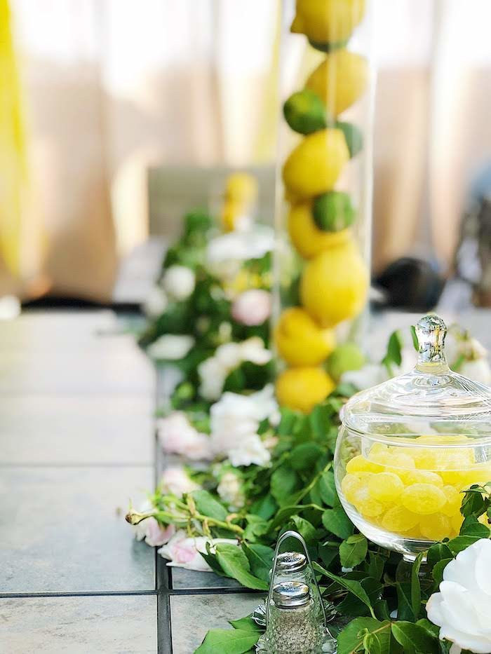 Guest Table from a Summer Lemon Baby Shower on Kara's Party Ideas | KarasPartyIdeas.com (29)