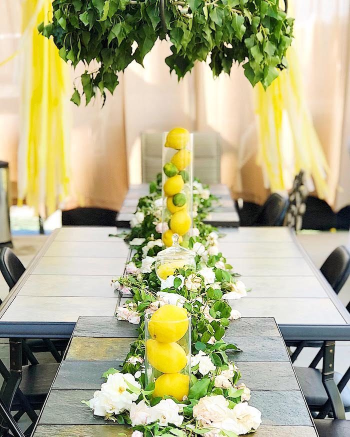 Lemon-inspired Guest Table from a Summer Lemon Baby Shower on Kara's Party Ideas | KarasPartyIdeas.com (28)