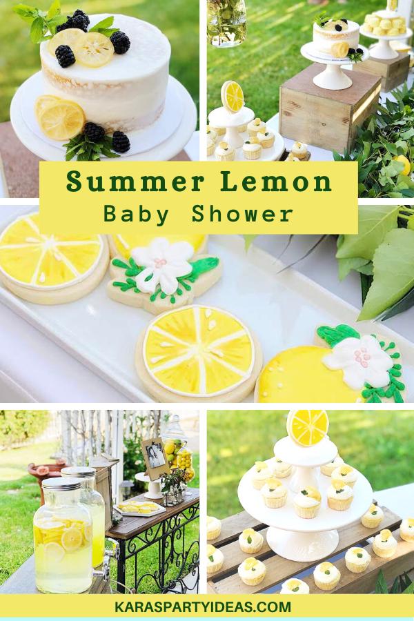 Summer Lemon Baby Shower via Kara's Party Ideas - KarasPartyIdeas.com