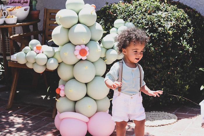 Cactus Balloon Install from a Terra Cotta Cactus Picnic Party on Kara's Party Ideas | KarasPartyIdeas.com (8)