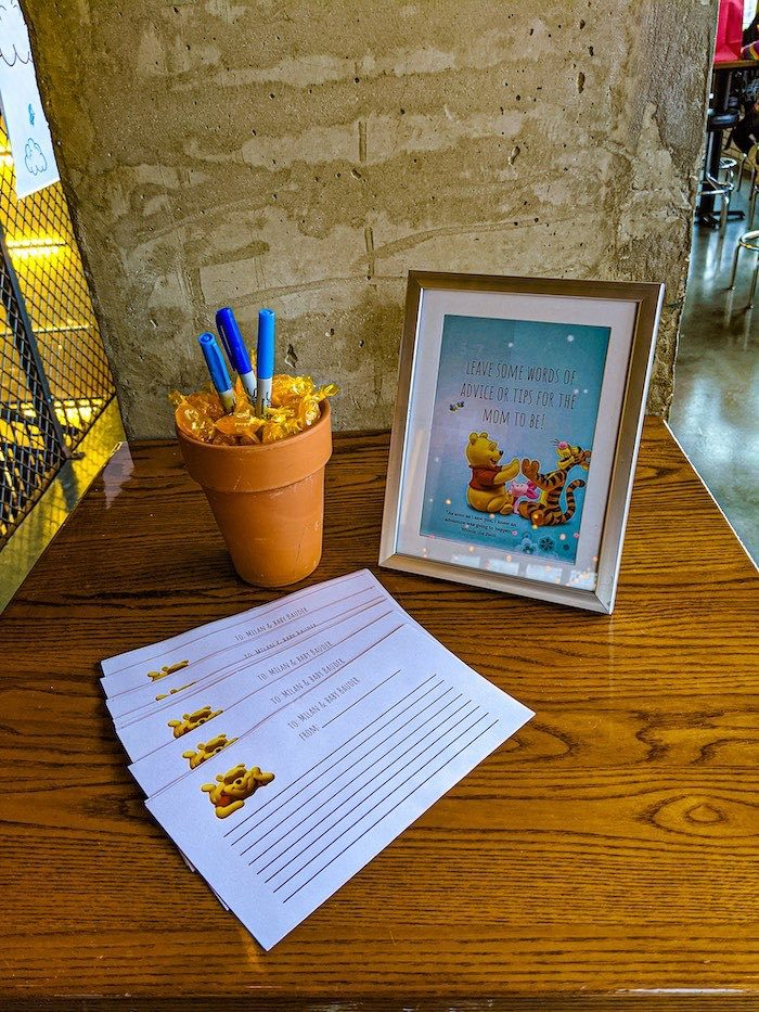 Advice Table from a Winnie the Pooh Baby Shower on Kara's Party Ideas | KarasPartyIdeas.com (20)