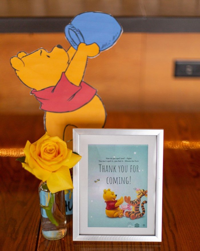 Favor Table Signage from a Winnie the Pooh Baby Shower on Kara's Party Ideas | KarasPartyIdeas.com (19)