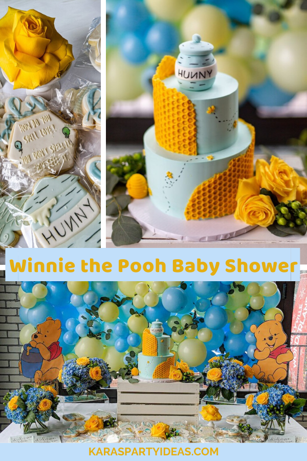 Winnie the Pooh Baby Shower via Kara's Party Ideas - KarasPartyIdeas.com