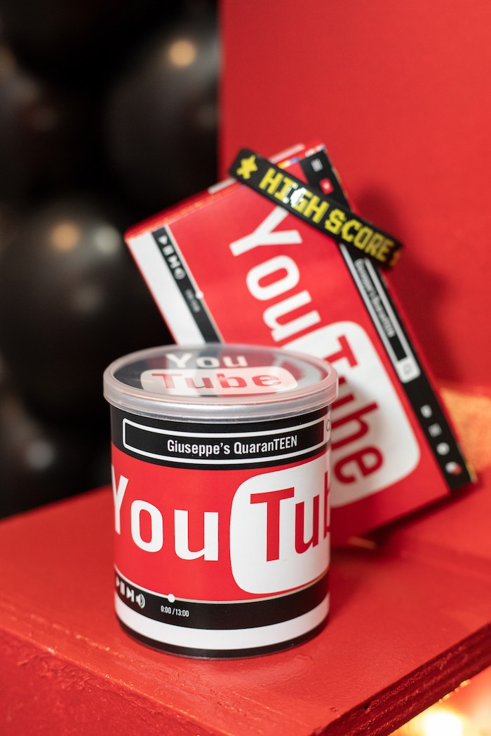 YouTube-labeled Snacks from a YouTube Inspired QuaranTEEN 13th Birthday Party on Kara's Party Ideas | KarasPartyIdeas.com (37)