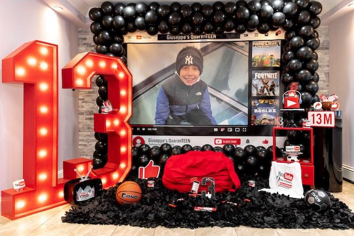 YouTube Inspired QuaranTEEN 13th Birthday Party on Kara's Party Ideas | KarasPartyIdeas.com (14)