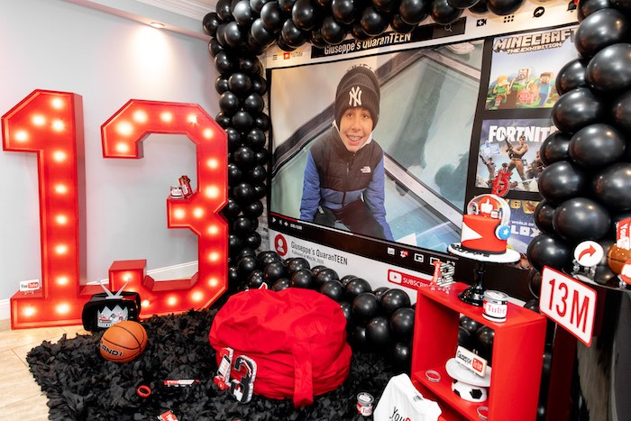 YouTube Inspired QuaranTEEN 13th Birthday Party on Kara's Party Ideas | KarasPartyIdeas.com (10)