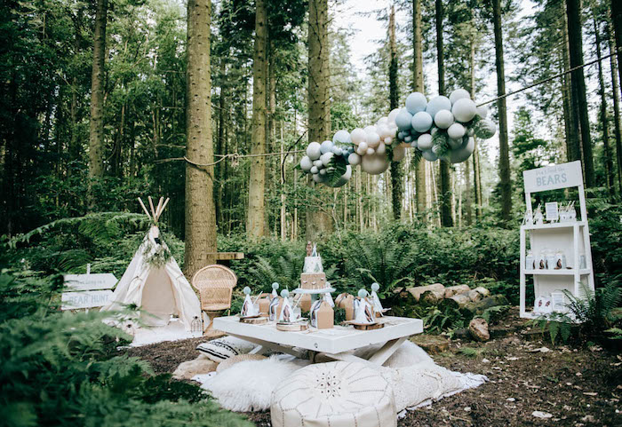 """Don't Feed the Bears"" Woodland Camping Party on Kara's Party Ideas 