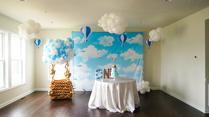 """Going the Distance"" Hot Air Balloon Quarantine Birthday Party on Kara's Party Ideas 
