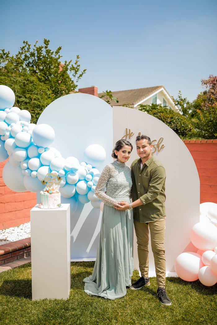 """He or She? What Will the Baby Be?"" Gender Reveal on Kara's Party Ideas 