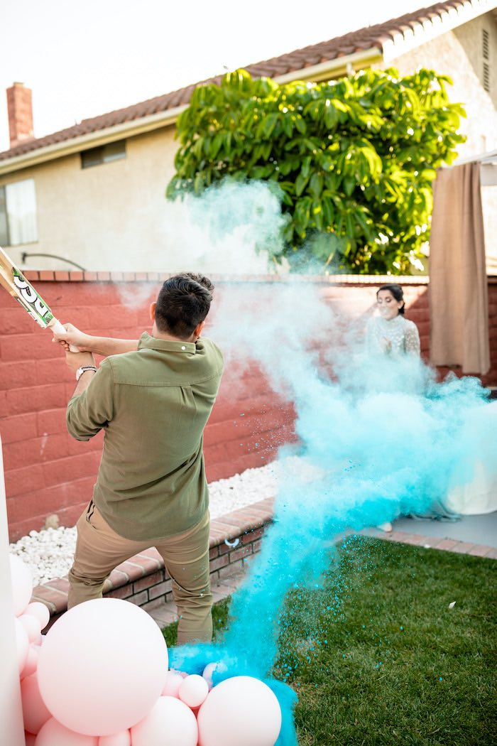 "Gender Reveal from a ""He or She? What Will the Baby Be?"" Gender Reveal on Kara's Party Ideas 