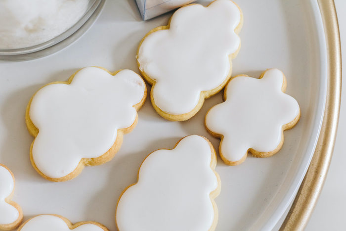 "Cloud Cookies from an ""Up in the Clouds"" Baby Shower on Kara's Party Ideas 