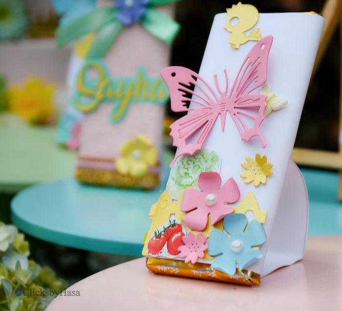 Garden-inspired Candy Bar Label from a Birthday Garden Party on Kara's Party Ideas | KarasPartyIdeas.com (16)