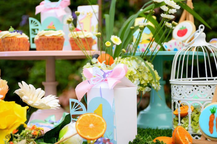 Sweet Table Details from a Birthday Garden Party on Kara's Party Ideas | KarasPartyIdeas.com (13)