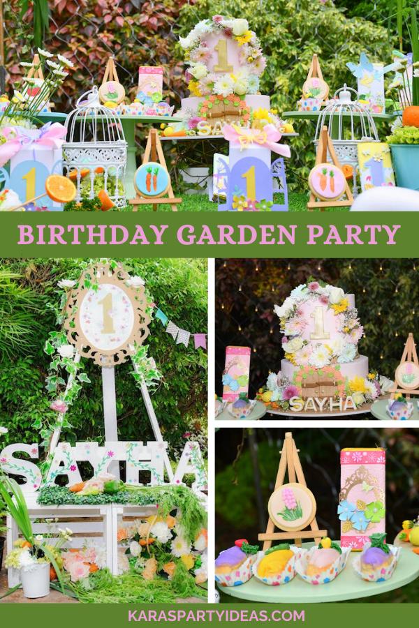 Birthday Garden Party via Kara's Party Ideas - KarasPartyIdeas.com