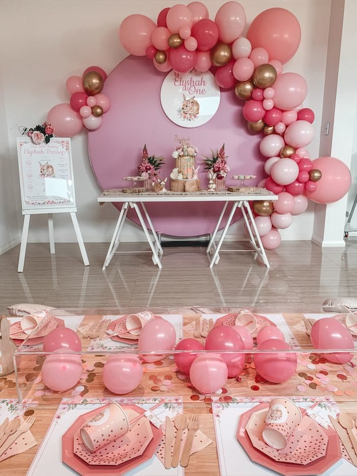 "Boho Chic ""Some-Bunny is One"" Birthday Party on Kara's Party Ideas 