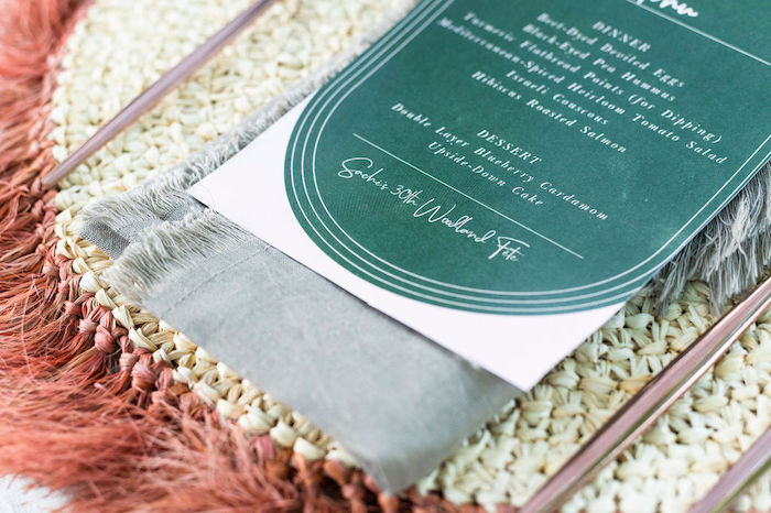 Dinner Menu + Napkin from a Boho Woodland 30th Birthday Fête on Kara's Party Ideas | KarasPartyIdeas.com (19)