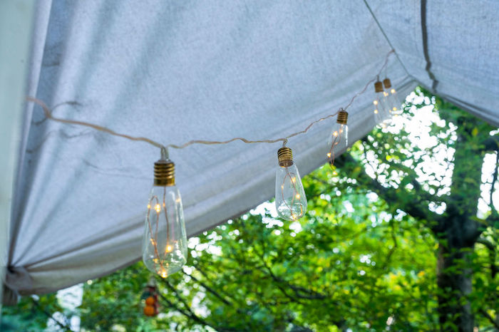 Edison Bulb Light Strand from a Boho Woodland 30th Birthday Fête on Kara's Party Ideas | KarasPartyIdeas.com (9)