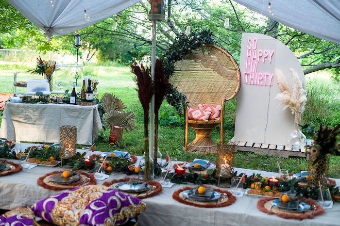 Boho Woodland 30th Birthday Fête on Kara's Party Ideas | KarasPartyIdeas.com (6)