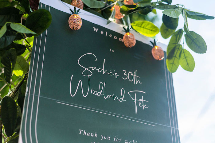 Signage from a Boho Woodland 30th Birthday Fête on Kara's Party Ideas | KarasPartyIdeas.com (3)