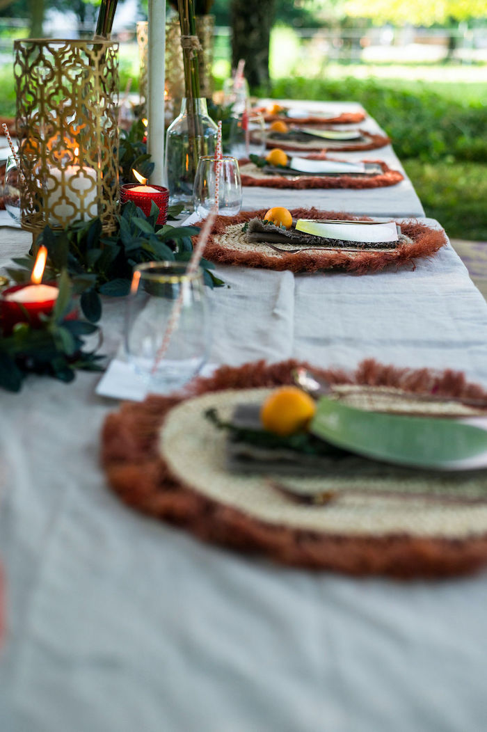 Boho Table Settings + Tablescape from a Boho Woodland 30th Birthday Fête on Kara's Party Ideas | KarasPartyIdeas.com (30)
