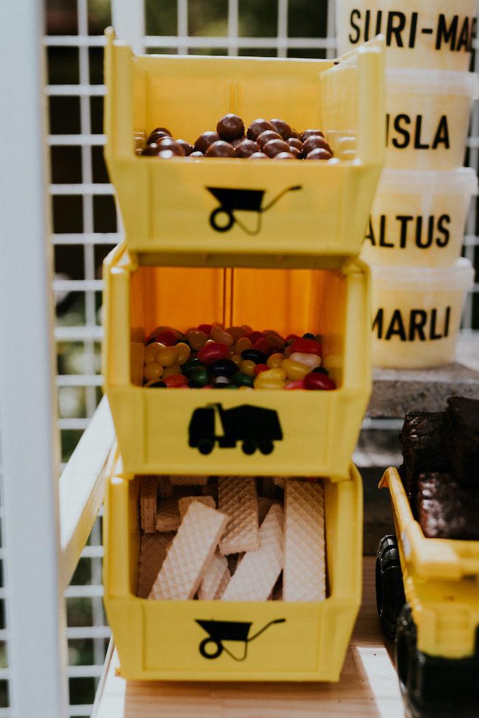 Nut & Bolt Bin of Treats from a Construction Birthday Party on Kara's Party Ideas   KarasPartyIdeas.com (17)