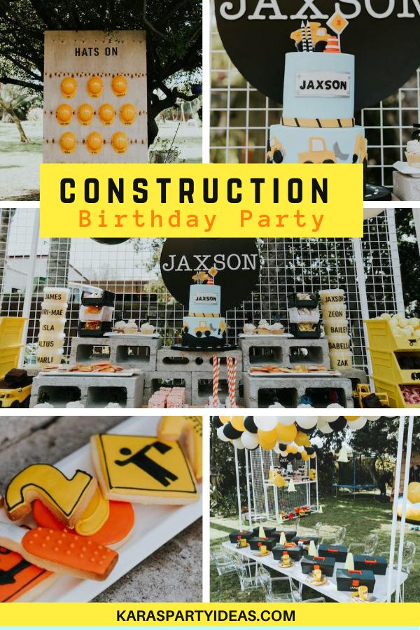 Construction Birthday Party via Kara's Party Ideas - KarasPartyIdeas.com