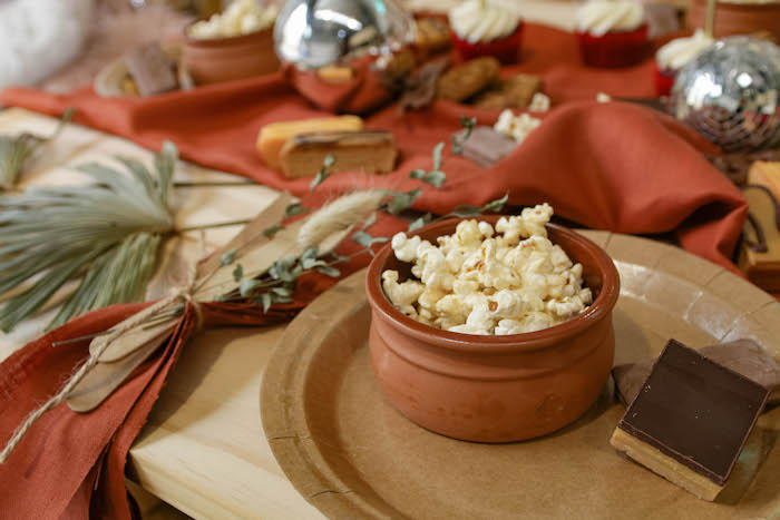 Boho Popcorn Bowl from a Cozy Indoor Picnic Party on Kara's Party Ideas | KarasPartyIdeas.com (11)