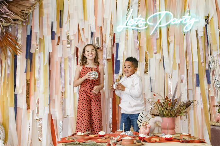 Let's Party Tassel Backdrop from a Cozy Indoor Picnic Party on Kara's Party Ideas | KarasPartyIdeas.com (16)