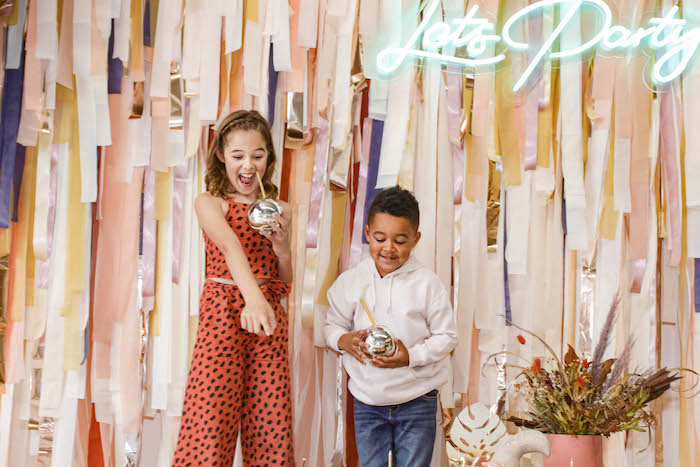 Let's Party Tassel Backdrop from a Cozy Indoor Picnic Party on Kara's Party Ideas | KarasPartyIdeas.com (15)