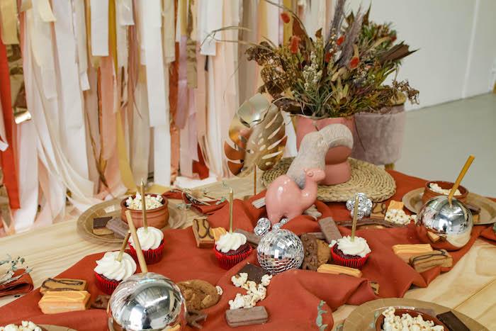Razzle Dazzle Boho Picnic Party Table from a Cozy Indoor Picnic Party on Kara's Party Ideas | KarasPartyIdeas.com (13)