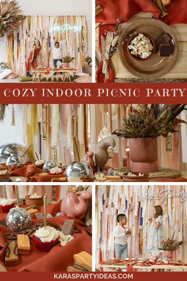 Cozy Indoor Picnic Party via Kara's Party Ideas - KarasPartyIdeas.com