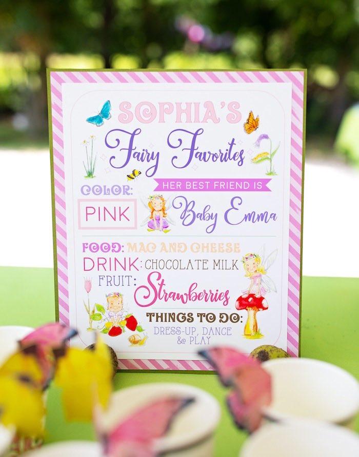 Fairy Favorites Board from a Fairy Fabulous Birthday Party on Kara's Party Ideas | KarasPartyIdeas.com (37)