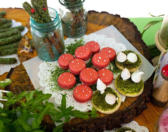 Woodland Macarons + Cookies + Pretzels from a Fairy Fabulous Birthday Party on Kara's Party Ideas | KarasPartyIdeas.com (36)