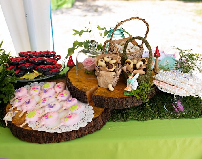 Woodland Dessert Table from a Fairy Fabulous Birthday Party on Kara's Party Ideas | KarasPartyIdeas.com (34)