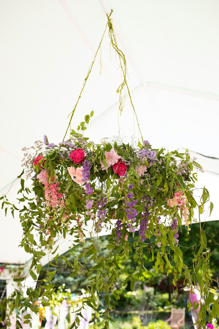 Hanging Florals from a Fairy Fabulous Birthday Party on Kara's Party Ideas | KarasPartyIdeas.com (31)