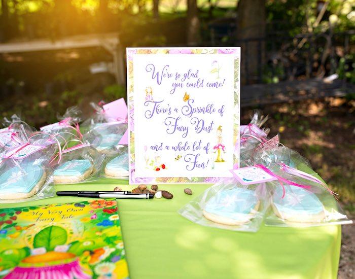 Fairy Favor Table Signage from a Fairy Fabulous Birthday Party on Kara's Party Ideas | KarasPartyIdeas.com (26)