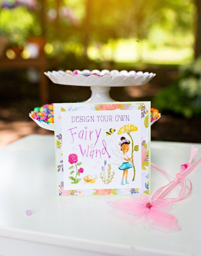 Fairy Wand Design Station from a Fairy Fabulous Birthday Party on Kara's Party Ideas | KarasPartyIdeas.com (25)