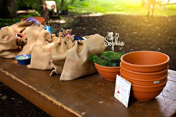 Planting Station from a Fairy Fabulous Birthday Party on Kara's Party Ideas | KarasPartyIdeas.com (22)