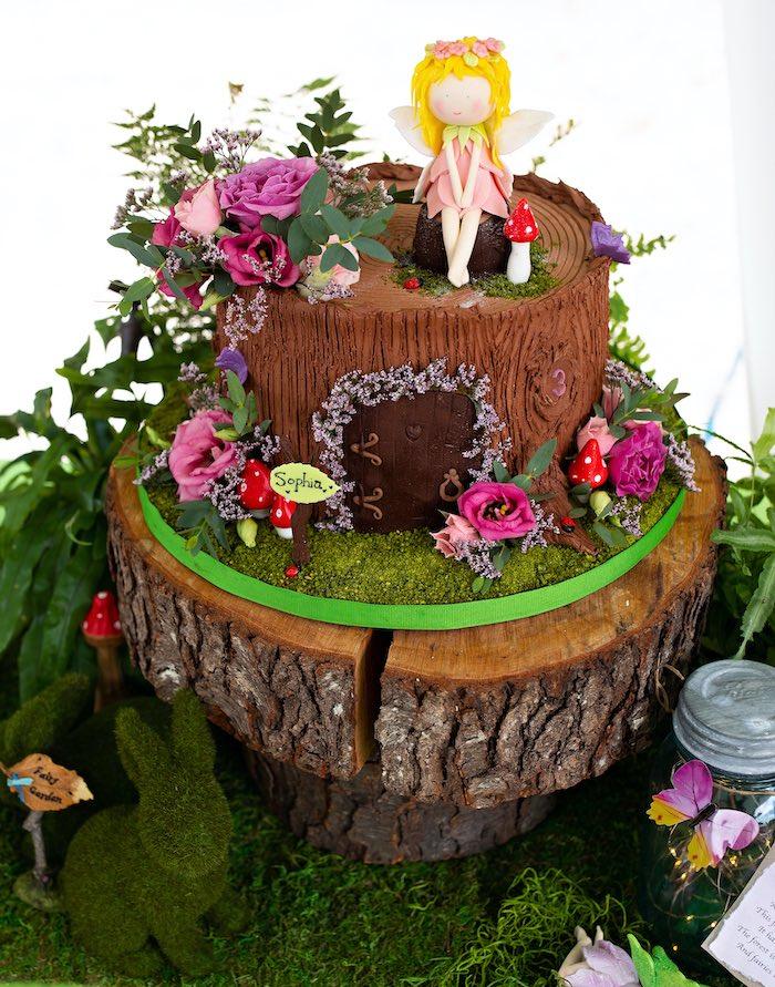 Fairy House Cake from a Fairy Fabulous Birthday Party on Kara's Party Ideas | KarasPartyIdeas.com (21)
