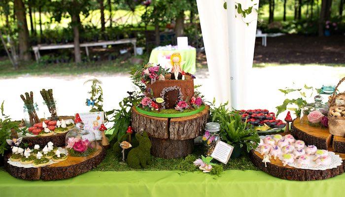 Fairy Themed Cake Table from a Fairy Fabulous Birthday Party on Kara's Party Ideas | KarasPartyIdeas.com (20)