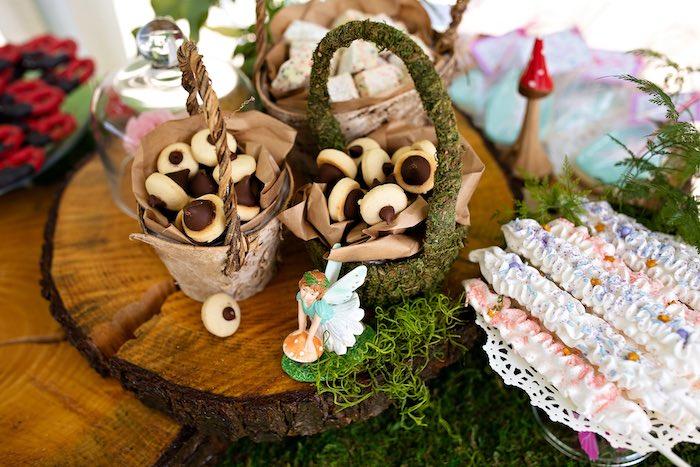 Acorn Cookies from a Fairy Fabulous Birthday Party on Kara's Party Ideas | KarasPartyIdeas.com (46)