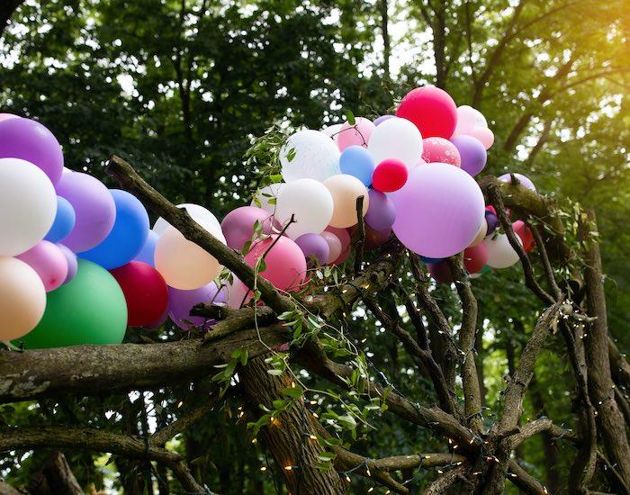 Colorful Balloon Garland from a Fairy Fabulous Birthday Party on Kara's Party Ideas | KarasPartyIdeas.com (17)